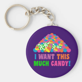 Pile of Halloween Candy Keychain