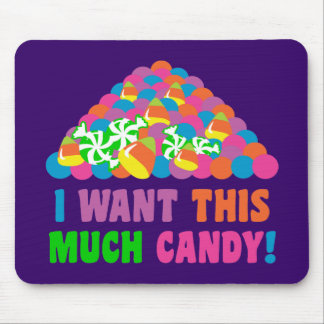 Pile of Halloween Candy Mouse Pad