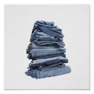 pile of jeans poster