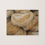 Pile of large bread loaves jigsaw puzzle