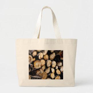 Pile of Logs Large Tote Bag