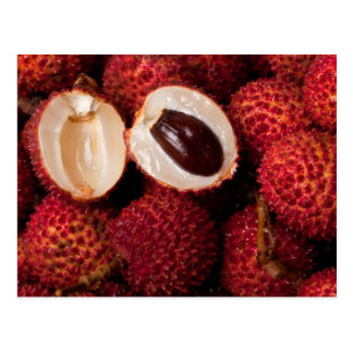 Pile of lychees postcard