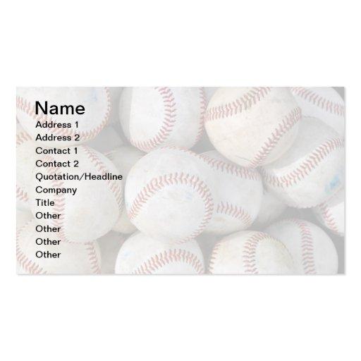 pile of many baseballs business card