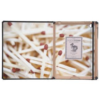 Pile of matches iPad case