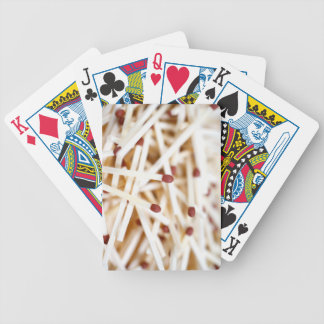 Pile of matches bicycle poker cards