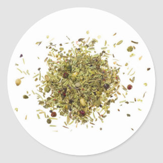 Pile of mixed herbs sticker