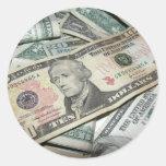 Pile of Money Classic Round Sticker