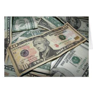 Pile of Money Greeting Card