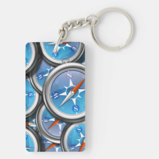 Pile of Nautical Compasses Keychain