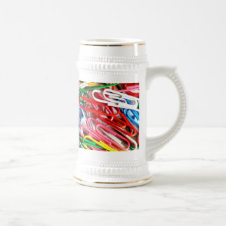 Pile of Paperclips Beer Stein