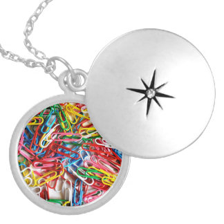 Pile of Paperclips Silver Plated Necklace