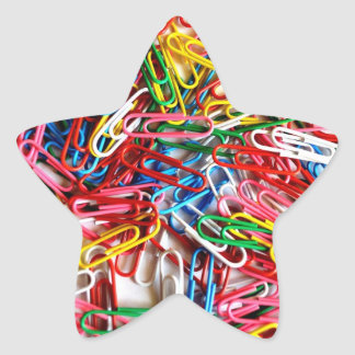 Pile of Paperclips Star Sticker