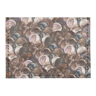 Pile of Pennies - One Cent Penny Spread Background Tyvek® Card Case Wallet