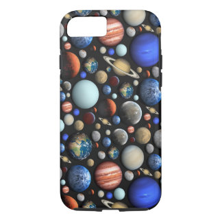 Pile of Planets space themed pattern iPhone 7 Case