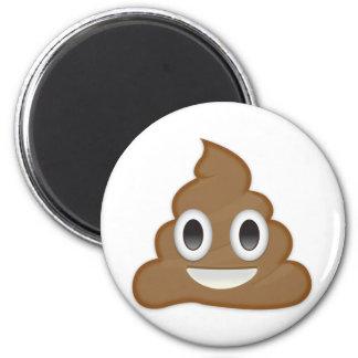Pile Of Poo Emoji 2 Inch Round Magnet