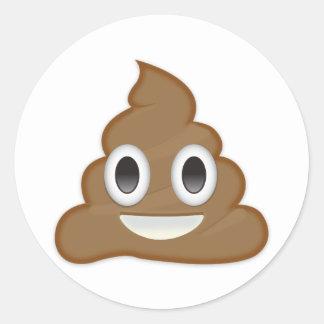 Pile Of Poo Emoji Classic Round Sticker