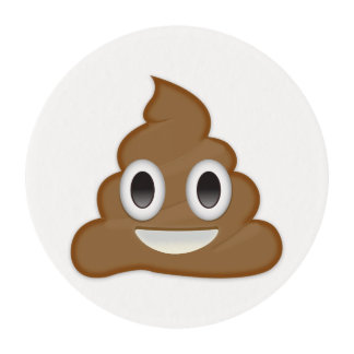 Pile Of Poo Emoji Edible Frosting Rounds