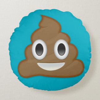 Pile Of Poo Emoji Round Pillow