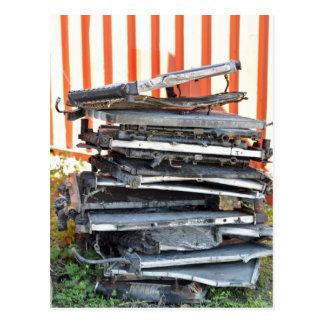 Pile of Radiators Postcard