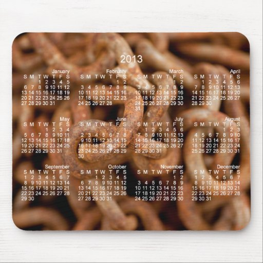 Pile of Rusty Chains; 2013 Calendar Mousepads