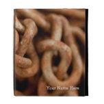 Pile of Rusty Chains; Customizable iPad Folio Cover