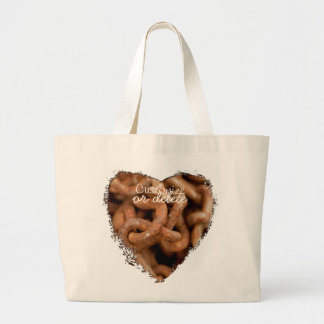 Pile of Rusty Chains; Customizable Large Tote Bag