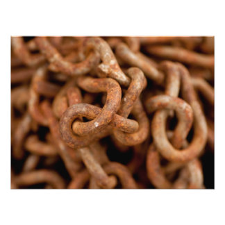 Pile of Rusty Chains Photo Art