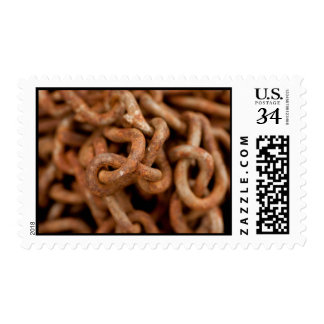 Pile of Rusty Chains Postage