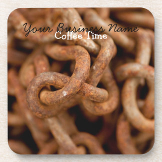 Pile of Rusty Chains; Promotional Beverage Coasters