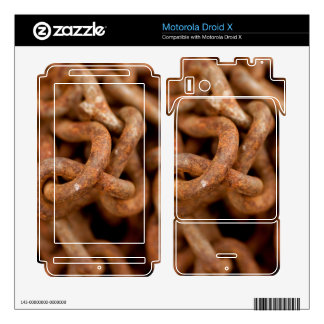 Pile of Rusty Chains Motorola Droid X Decal