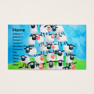 Pile of sheep business card