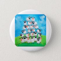 Pile of sheep pinback button