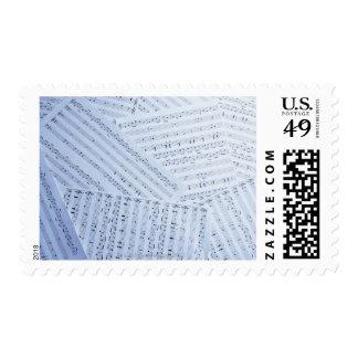 Pile of Sheet Music Postage