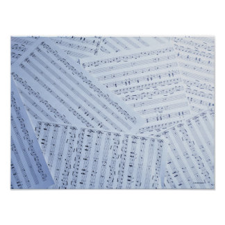 Pile of Sheet Music Poster
