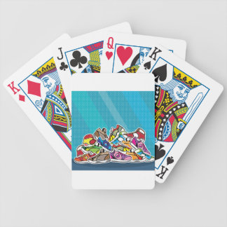 Pile of shoes vector pop art bicycle playing cards