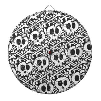 Pile of Skulls Dartboard With Darts