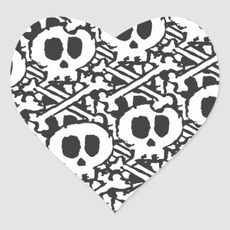 Pile of Skulls Heart Sticker