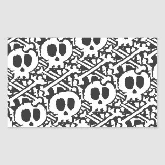 Pile of Skulls Rectangular Sticker