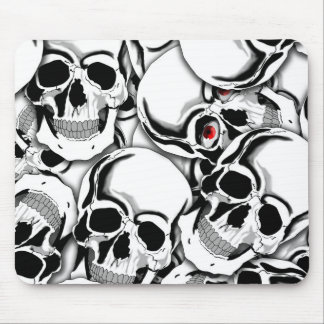 Pile of Skulls Red Eye ID222 Mouse Pad