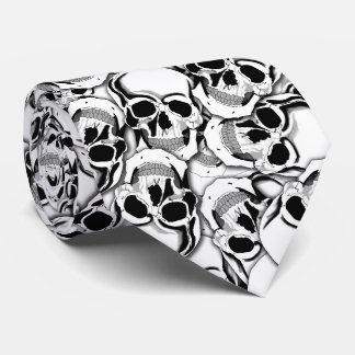 Pile of Skulls Red Eye ID222 Neck Tie