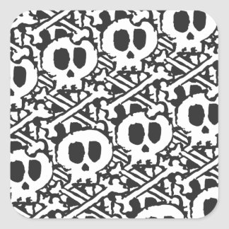 Pile of Skulls Square Sticker