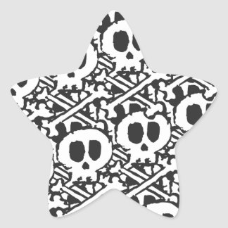 Pile of Skulls Star Sticker
