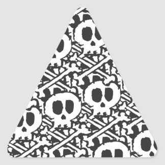 Pile of Skulls Triangle Sticker