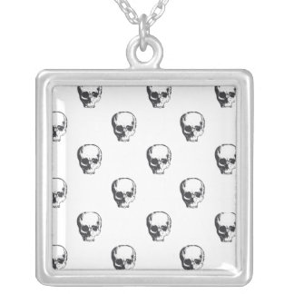 pile of skullz silver plated necklace