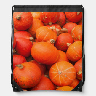 Pile of small pumpkins, Germany Drawstring Backpack