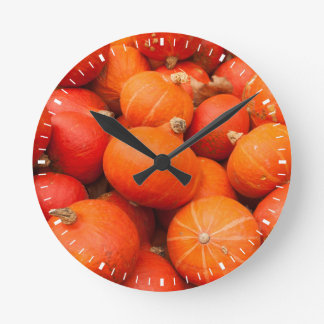 Pile of small pumpkins, Germany Round Clock