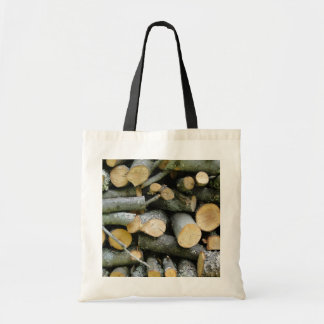 Pile of Stacked Cut Firewood Tote Bag