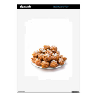 Pile of sugared oliebollen or fried fritters iPad 2 decals