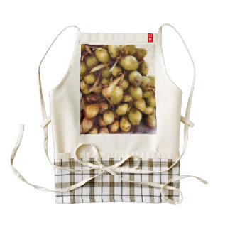 Pile of tender coconuts zazzle HEART apron