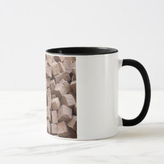 Pile of unused cobblestones mug